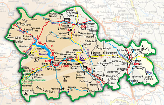Harta Harta Rutiera Piatra Neamt
